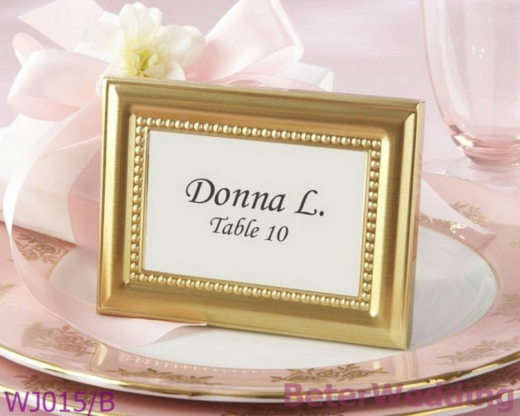 MX, CA, US Express Shipping 100set Gold Photo Frame Wedding Name Place card Holder Wedding decoration Wedding Gift WJ015/B(China (Mainland))