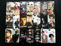Justin Bieber 1D One Direction Hard Plastic Case Cover for iPhone 4 4S, 100pcs/lot