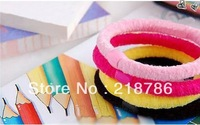 In Stock!Candy Color Baby girl Kids tiny Hair accessaries Hair bands Elastic Ties Ponytail Holder L1304006
