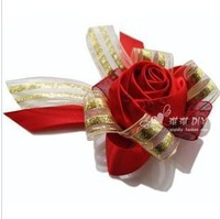 High-end hand-red roses Austria diamond wedding corsage / wrist flower