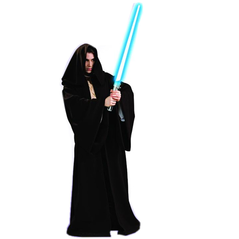 Halloween cos clothes black star wars jedi robe(China (Mainland))