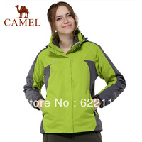 CAMEL women's spring new arrival  outdoor casual waterproof,windproof,breathable jacket two-piece2f16029