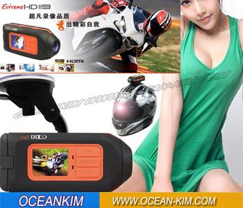 Full HD 1920*1080P Car DVR,Motorbike Video Camcorder,Sport Helmet Camera Vehicle DVR Remote control T1000