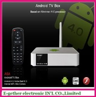 New arrival ! hot sale for Android 4.0 TV box Based on allwinner A10 processor with WIFI full HD 1080 with remote control