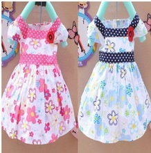 Free shipping 2013 new summer Korean girls summer baby girl dress princess dress A054(China (Mainland))