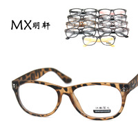 Skull decoration glasses plain mirror multi color lens