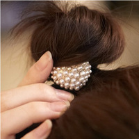 Hair accessory sweet pearl elastic headband tousheng elegant princess love all-match hair rope hair accessory