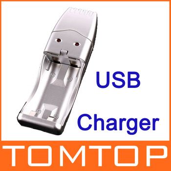 Durable USB Charger for Ni-MH AA/AAA Rechargeable Batteries H1477S Free Shipping