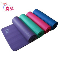 Wholesale! Hot sale high quality green yoga mat 183 * 60 centimeters (10 mm) send aglet + hair ribbon +backpack + nano cotton