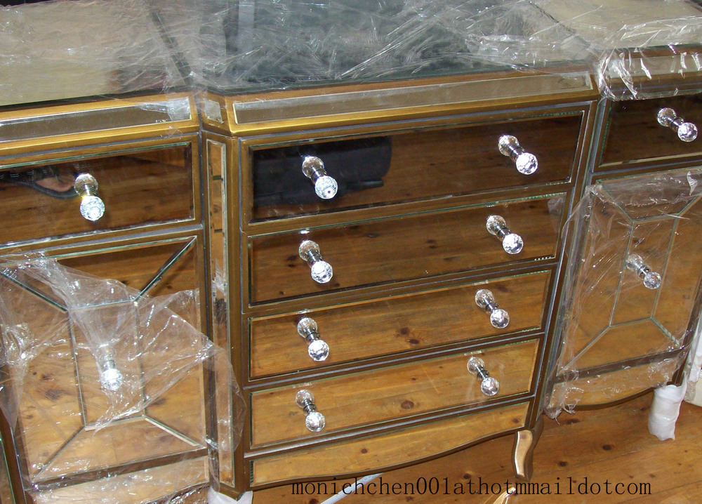 NEW MIRROR CHESTS,SIDEBOARDS BIG EUROPEAN SIZE CRYSTAL HANDLES(China (Mainland))