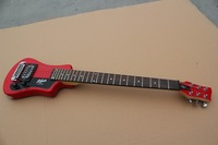 New arrival travel electric guitar hofner electric guitar three-color black red blue