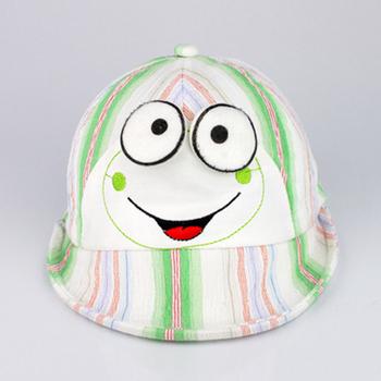Free T026 soft cartoon graphic patterns 100% cotton net male hat child sunbonnet