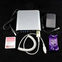 Free shipping 100~240V ELECTRIC Manicure File Acrylics KIT Professional Nail Drill Digital Portable Nail Tools SET_KD142