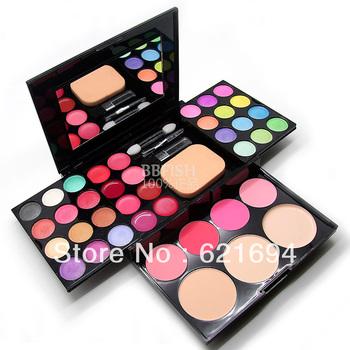 Free Shipping female Make-up compact makeup palette 24 eye shadow plate 8 lipstick 4 blush 3 powder make-up set