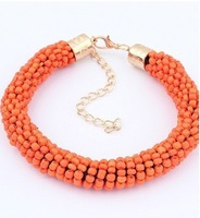 Min.order is $15(mix order)New Arrival Fashion Bracelets, Fashion BEADS HANDMADE BRACELET multicolor cylinde