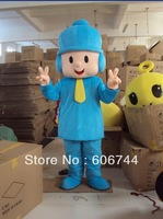 Customized Blue Pocoyo Mascot Costumes For Advertising Free Shipping  Adult Size