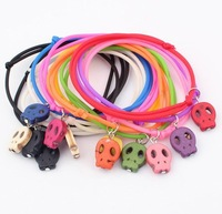 Min.order is $15(mix order)Wholesale new Exaggerated color fashion thriller skull multilayer Bracelet(12 pcs/set, random color)