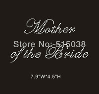 DHL Free Shipping 60pcs/Lot Mother of the Bride hotfix rhinestone transfers motif ,MOQ(30pcs each design) is acceptable