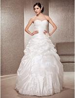 Listen ! Smelling... Yesterday Once M......A-line Strapless Floor-length Taffeta Wedding Dress