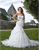 Listen ! Smelling... Yesterday Once M...... Trumpet/ Mermaid Sweetheart Chapel Train Organza Wedding Dress