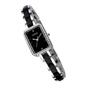 Kimio side plate rhinestone steel ladies watch women's 452 quartz watch