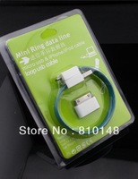 Mini ring data line charger cable micro- USB for SamSung&Iphone/Ipod cable Loop B cable, 10pcs/lot Free Shipping
