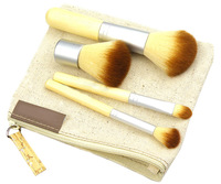 5setsx HB702 EE Convenient Bamboo 5 piece brush set travel size Free shipping wholesale drop shipping