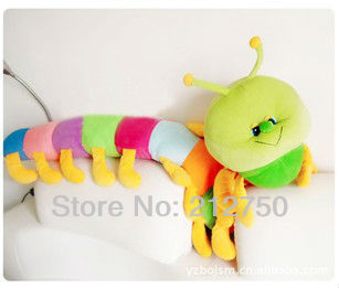 Long size 80cm lovely home decor 7 colors plush GiantWorm soft baby kids toy, cushion, sofa pillow, bolster(China (Mainland))