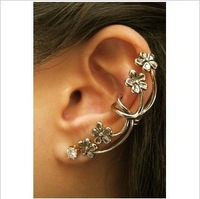 ES244 Hot 2014 New Design Wholesales Fashion The plum blossom Ear Cuff Earring clip Jewelry  AAA!! Free Shipping