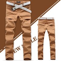 2013 summer men's clothing skinny pants male 100% casual pants cotton trousers skinny pants male trousers