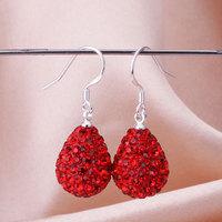 Shamballa New Arrivals 2013 Shambala Water Drops Earrings Crystal Earring Top Quality Rhinestones Balls Bead Jewelry E077