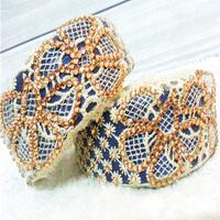 fashion women's lace headband,rhinestone hair hoop ,hairband blue color free shipping