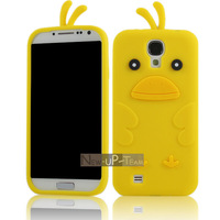 Yellow Baby Duck Soft Silicone Case Cover Skin for Samsung Galaxy S4 SIV I9500