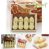 Freeshipping  40pcs/10box/lot  Peanut eraser/Face Eraser/mini Eraser/Cheap stationery /Kid's Fashion Gift