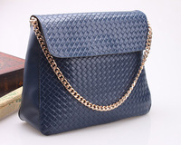 2013 New arrival women's  genuine leather shoulder bag ,elegant chain strap designer bags  free shipping