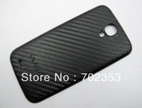 2pcs per lot Samsung Galaxy S4 SIV I9500 Replacement Back Cover Housing Battery Door Carbon Fiber Leather Design Free shipping