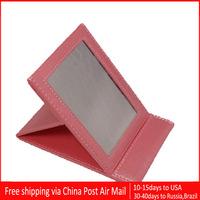 10pcs/lot Famous brand M&C folding pocket makeup mirrors pink color