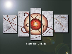 free shipping 5 piece high quality canvas wall art contemporary abstract oil painting pictures on the wall(China (Mainland))