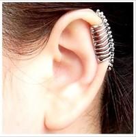 fashion accessories cool punk skull clip no pierced earrings