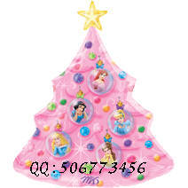 Anagram aluminum ball Christmas Large princess christmas tree aluminum balloon(China (Mainland))