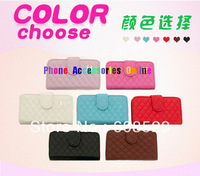 Dropship luxury Leather Wallet Card Pouch Case With CC Logo For iPhone 5 5G, MOQ 1pcs + Free shipping