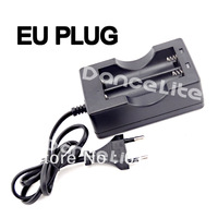 100% New Wired Dual Travel Charger For Lithium Li-ion 2x18650 Battery Charger Free Shipping