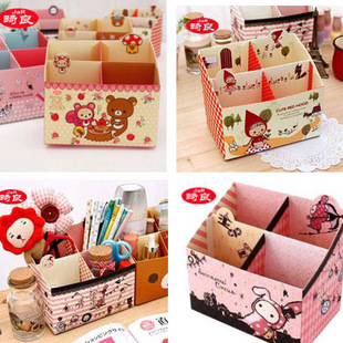 8 bag home of the whole small desktop storage box diy pen holder storage box 1(China (Mainland))