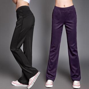 2013 spring sports pants Women outside sport trousers south korean silk pants slim straight pants(China (Mainland))
