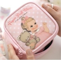 Doll series paper doll mate cosmetic bag storage_Free Shipping