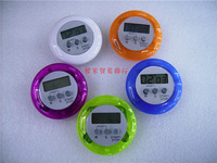 Circle colourful timer 25pcs/pack Round electronic timer / kitchen countdown timer multi-colors free shipping