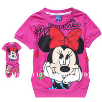 children clothing sport set Minnie 2 pcs suit girl's short sleeve T-shirt + pants shorts whole suit outfits free shipping