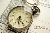 Nostalgic the time vintage roman numerals pocket watch long design necklace