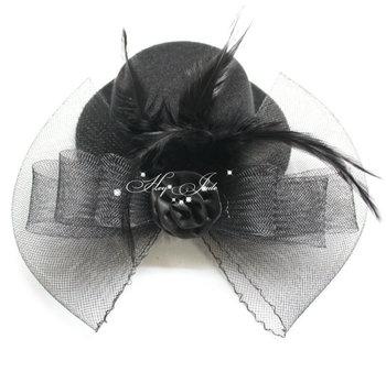 Elegant Lady Girl Dots Fascinator Lace Mini Top Hat Cap Hair Clip Fascinator Fancy Dress headwear 12pcs/lot