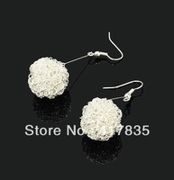 Minimum order $ 10 (mixed order)2013 Lovely hollow Ball earrings Hollow fashion earring fashion ball earrings free shipping
